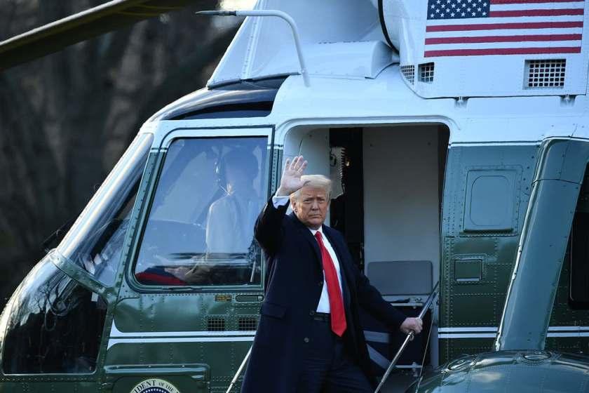 """Trump abandono la Casa Blanca horas antes de la asunción de Biden: """"Volveremos de alguna manera"""""""