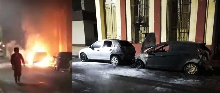 ¿ Quema coches en Tucuman ?: Dos autos incendiados en Balcarce y Mendoza a la madrugada