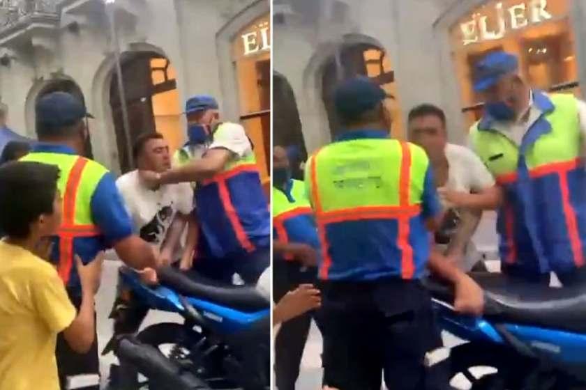(VIDEO) Vergonzoso :A golpes agentes de tránsito secuestran una moto en pleno centro (video)
