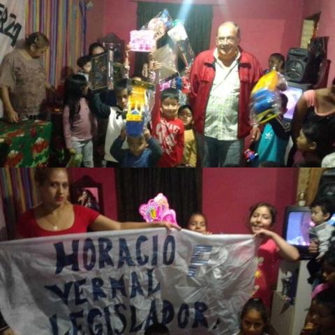 """El Movimiento Fuerza Organizada junto a los niños en el dia de """"Reyes"""""""