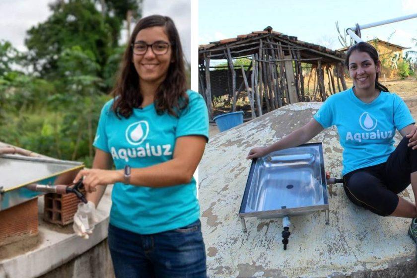 Una joven creo un filtro de agua que usa luz solar para potabilizarla