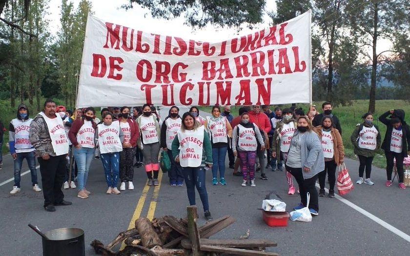 Corte en la Ruta a Tafi del Valle: La Multisectorial Barrial Aguilares le pide a Manzur, módulos alimentarios para los sectores vulnerables del interior tucumano.
