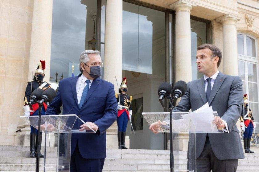 """Macron:  """"Estamos del lado de la Argentina"""""""