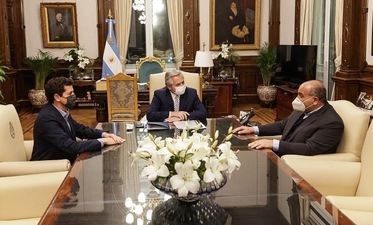 El gobernador Manzur junto al presidente Fernández analizaron el avance de la obra pública y la campaña de vacunación con el Presidente