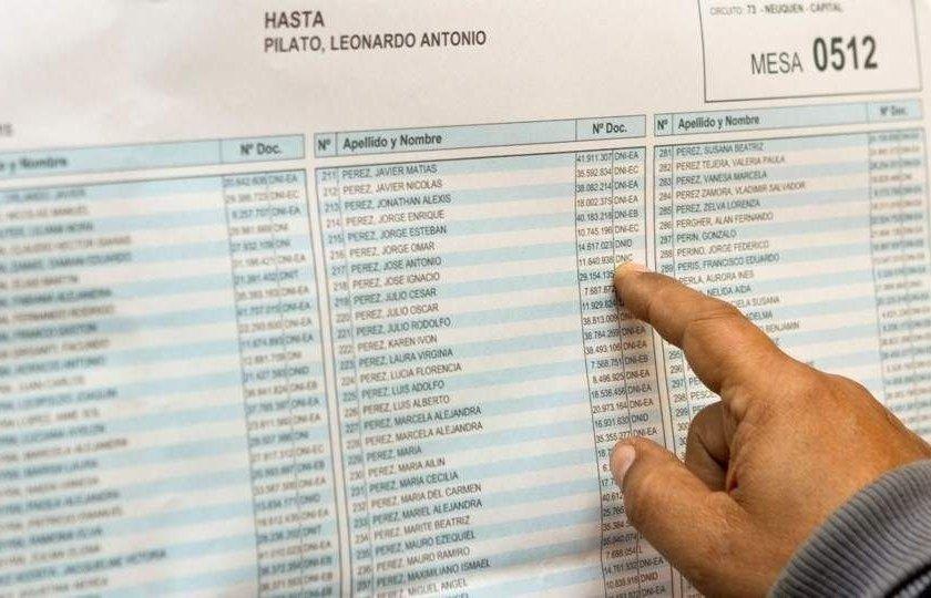 Ya podes consultar el padrón electoral 2021 para las próximas elecciones