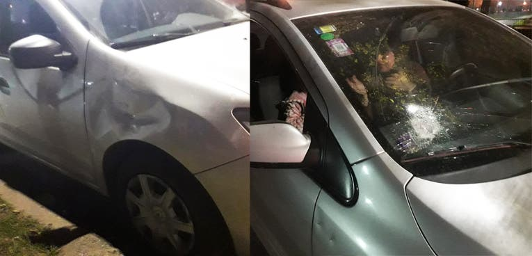 Inseguridad en Yerba Buena: atacan con adoquines a 8 autos y una ambulancia para asaltarlos frente al Easy y Jumbo