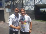 Michael Salgado con Pérez Lima
