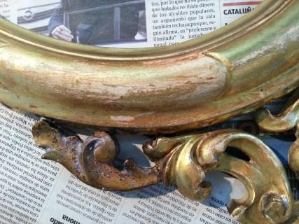 Restauración con pan de oro
