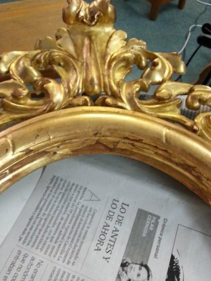 Restauración pan de oro