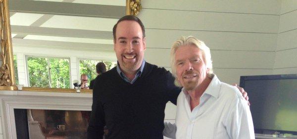 Foto aparecida en la cuenta de Twitter de Richard Branson