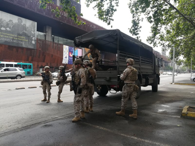 Militares barrio San Borja