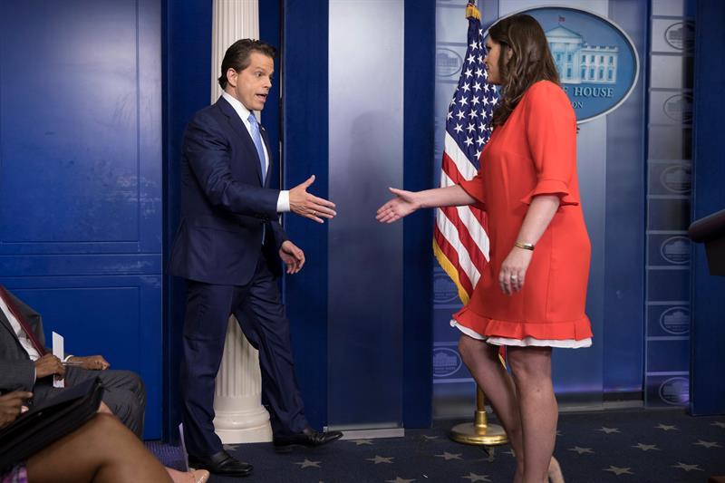 Sara Sanders, una mujer de hierro en la Casa Blanca