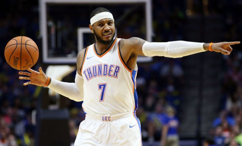 Carmelo Anthony ingresa al club de los 25 mil puntos