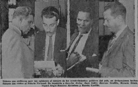 FOTO HORACIO ORNES Y RAMON A CASTILLO, 24 DIC 1963