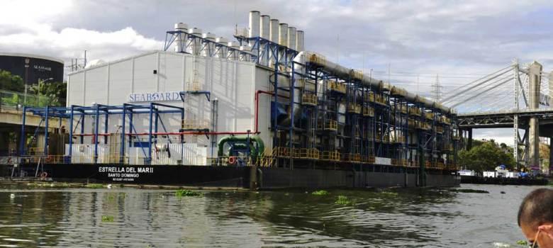 Medio Ambiente suspende renovación permiso a barcaza eléctrica en el Ozama