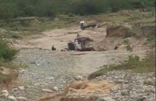 Senador emplaza Medio Ambiente evitar extracción materiales ríos San Cristóbal