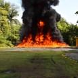 Autoridades queman más de 100 kilos de drogas