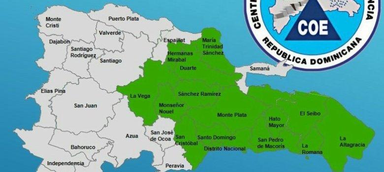 14 provincias en alerta verde por Beryl