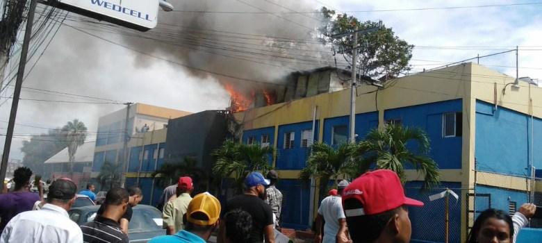 Fuego afecta algunas zonas hospital Juan XXIII