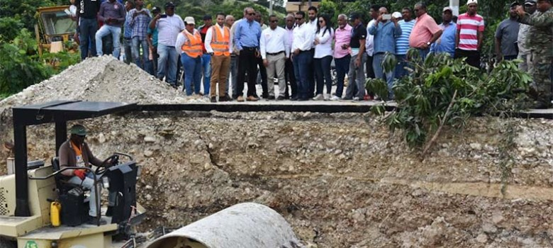 MOPC restablecerá el domingo puente comunica a Vallejuelo con El Cercado