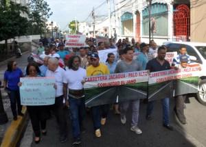 protesta carretera Jacagua Palo Alto