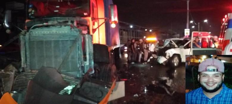 Un muerto y 4 heridos accidente autopista Joaquín Balaguer