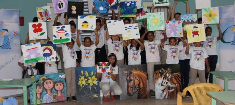 Aeropuerto Cibao auspicia actividades creativas en comunidades