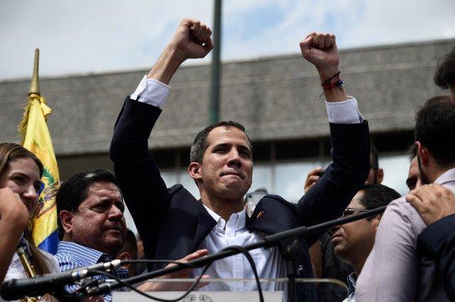 """Guaidó: """"Maduro está solo y atrincherado. Vamos a ir a Miraflores a reclamar y a exigir lo que es del pueblo venezolano"""". Foto cortesía"""