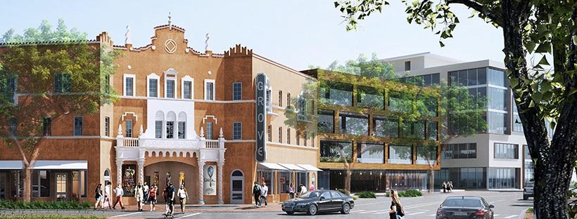 Propuesta de reconstrucción de la fachada del teatro Coconut Grove Playhouse, Foto cortesía