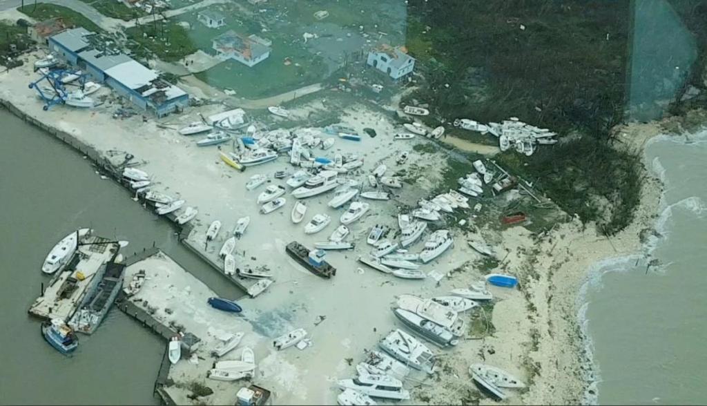 Imágenes aéreas muestran la destrucción en la isla Ábaco de Bahamas. Foto cortesía