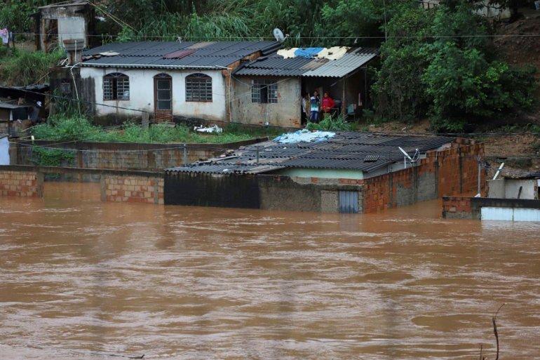Las víctimas se concentran en el estado de Minas Gerais, el más castigado por las lluvias