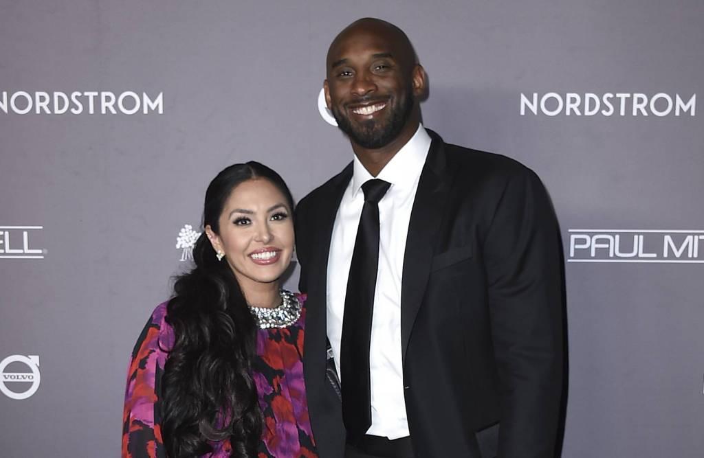 Kobe Bryant y su esposa Vanessa. Foto cortesía