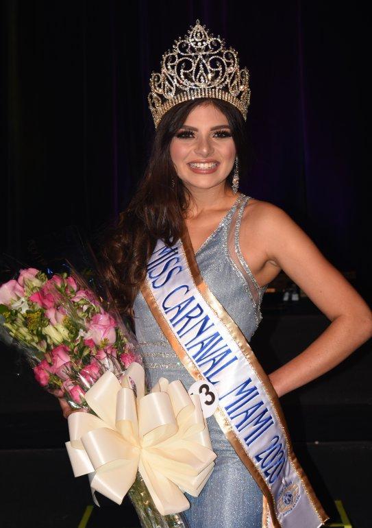 Valeria Uzcátegui, coronada Miss Carnaval Miami 2020. Foto cortesía
