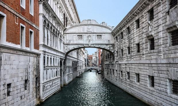 Puente de los Suspiros en Venecia, Italia. Foto cortesía