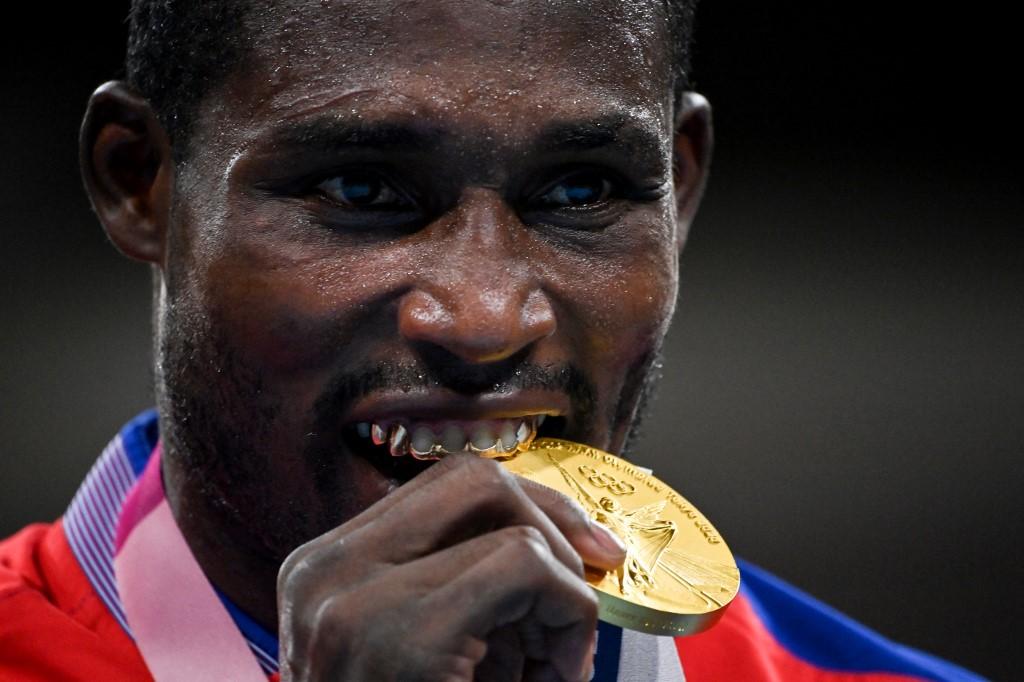 Julio La Cruz (Boxeo). Foto AFP