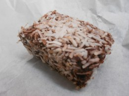 Behold, the lamington.