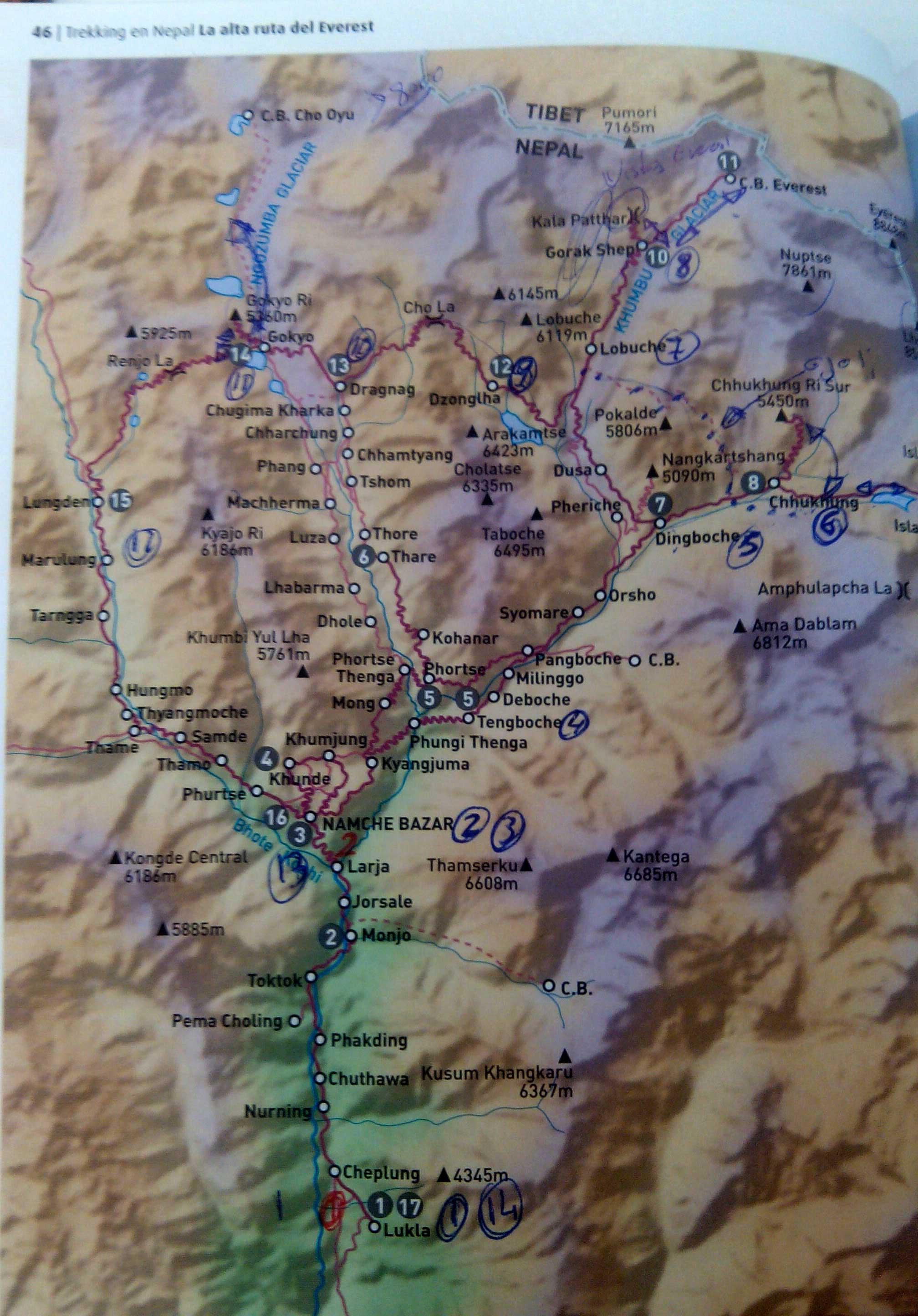 mapa nepal himalaya