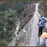 Puente colgante hacia Namche Bazar