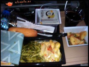 La comida como cosas que hacer en un vuelo largo