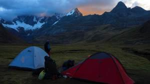 Acamada en los Andes