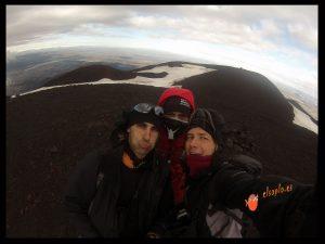 Selfie en el volcán Hekla