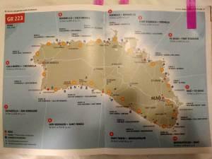 Menorca y mapa cami de cavalls
