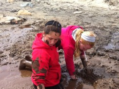 water and mud, time for a facial?