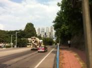Just a walk away - the main Tong He road