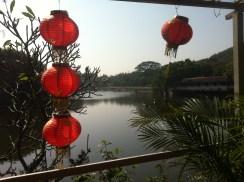 Lake and lanterns