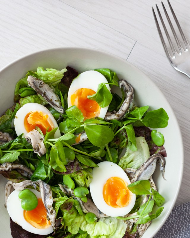 Egg and Anchovy Salad