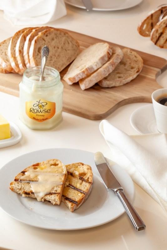 Sourdough toast with honey