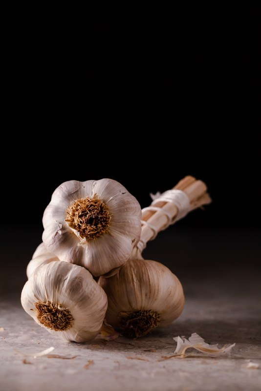 Bunch of garlic bulbs