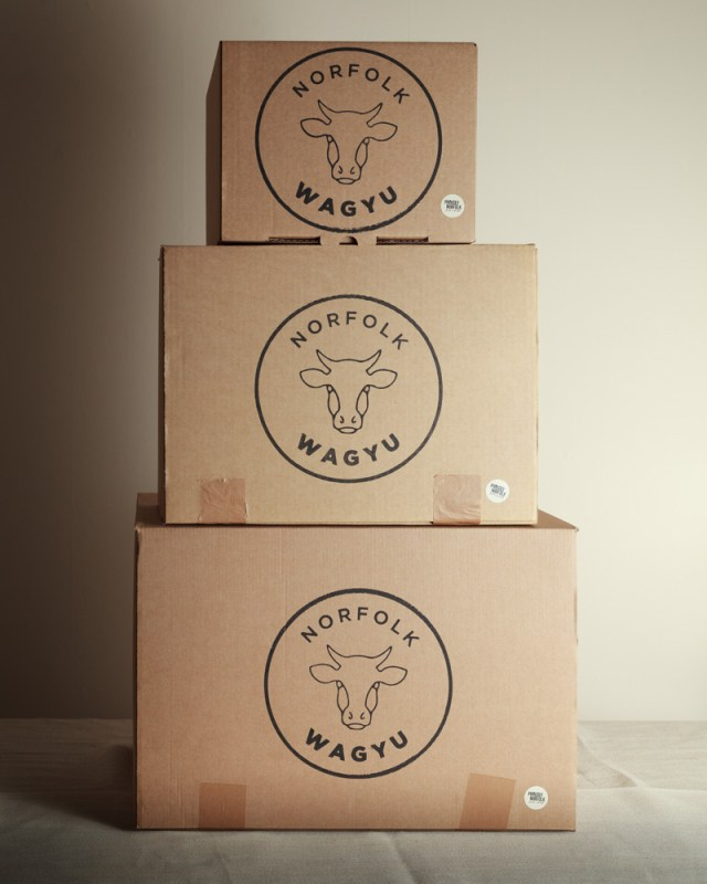 Packaging Shot for Norfolk Wagyu Beef Boxes