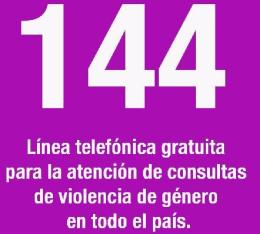mujeres linea 144
